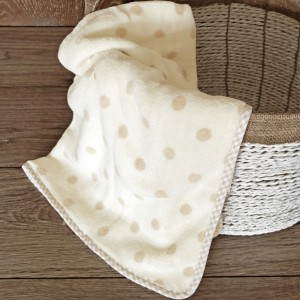 Beige Polka Blanket