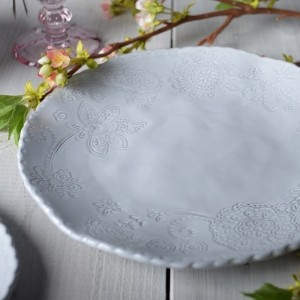Mikasa Hush Embossed Dinner Plate