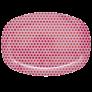 Rectangular Melamine Plate with Girls Star Print