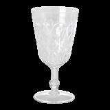 Swirly Embroidered Wine Glass
