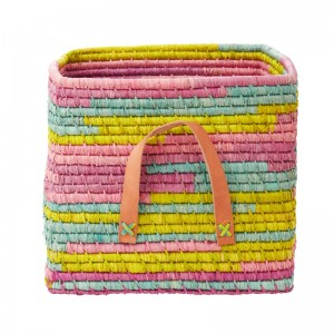 Small Pastel Raffia Basket