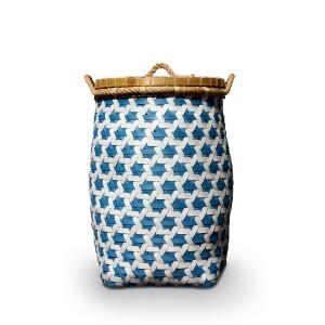 Blue Orlando Plastic Strap Truntum Laundry Basket