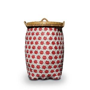 Pink Orlando Plastic Strap Truntum Laundry Basket