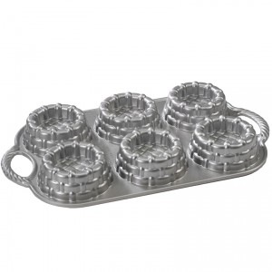 Cast Alum Shortcake Baskets Cake Pan, Nordicware