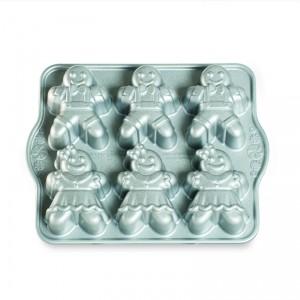 Cast Alum Gingerbread Kids Cakelet Pan, Nordicware