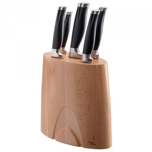 Knife Block w/ 5 Knives, Jamie Oliver