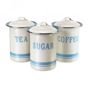 Tin Tea, Coffee & Sugar Container Set, Jamie Oliver