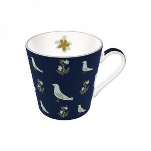 NT Sizergh Bird Conical Mug, Navy
