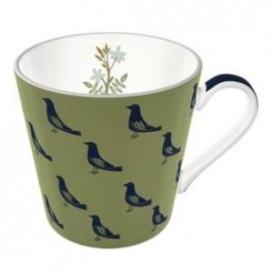 NT Sizergh Bird Conical Mug, Sage
