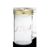 LE PARFAIT GLASS SCREW TOP PRESERVING JAR 1L TERRINES FAMILIA