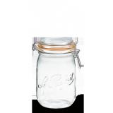 LE PARFAIT GLASS PRESERVING JAR W/CLIP 1L BOCAUX SUPER