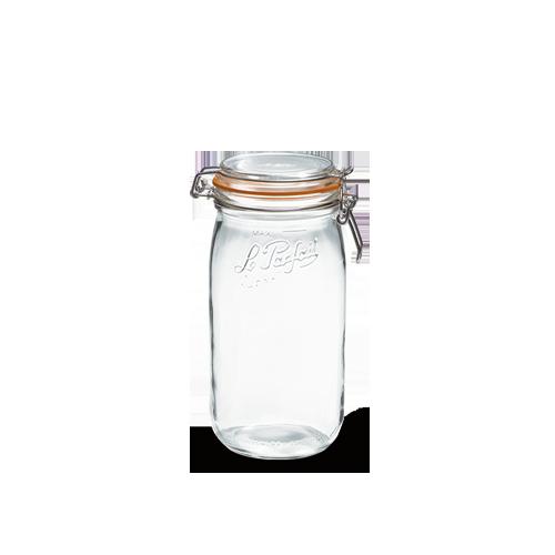 le parfait glass preserving jar w clip 1 5l bocaux super. Black Bedroom Furniture Sets. Home Design Ideas