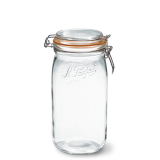 LE PARFAIT GLASS PRESERVING JAR W/CLIP 1.5L BOCAUX SUPER