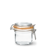 LE PARFAIT GLASS PRESERVING JAR W/CLIP 200ML TERRINES SUPER