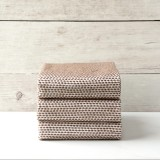 Brown Knitted Napkin Set of 3