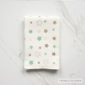 Twinkel in Green Tottori Baby Towel