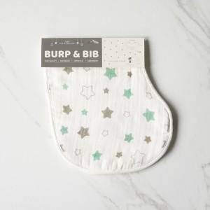 Twinkle In Green Burp & Bib