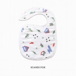 Scandi Fox Snappy Bib