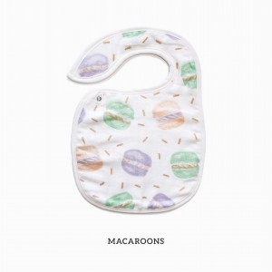Macaroons Snappy Bib