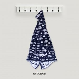 Aviation NAVY Baby Hooded Towel