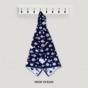 High Ocean NAVY Baby Hooded Towel