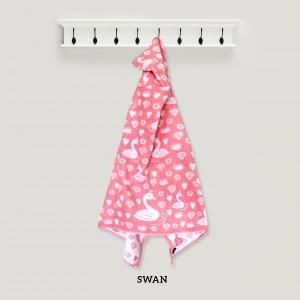 Swan Baby PINK Hooded Towel