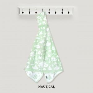 NAUTICAL HOODED TOWEL (GREEN)