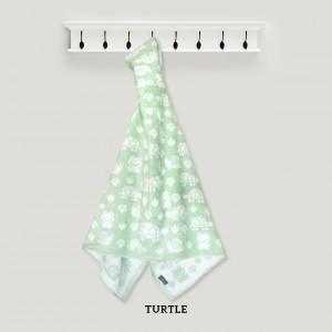 TURTLE HOODED TOWEL (GREEN)