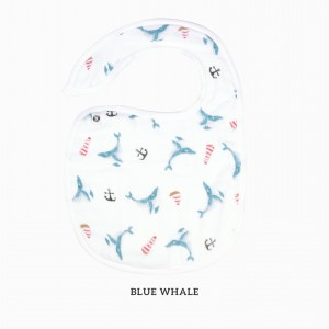 Blue Whale Snappy Bib
