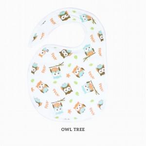 OWL TREE SNAPPY BIB