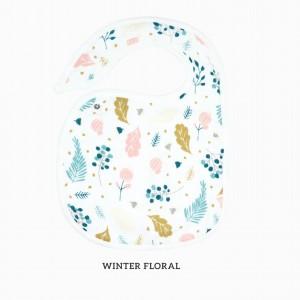 Winter Floral Snappy Bib