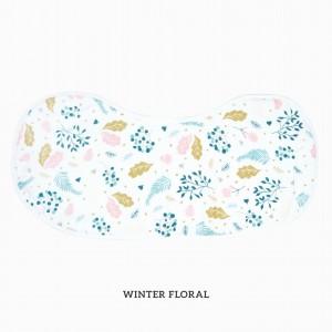 Winter Floral Burp & Bib