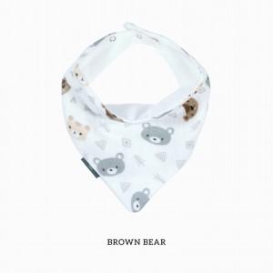 Brown Bear Bandana Bib