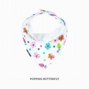 Popping Butterfly Bandana Bib