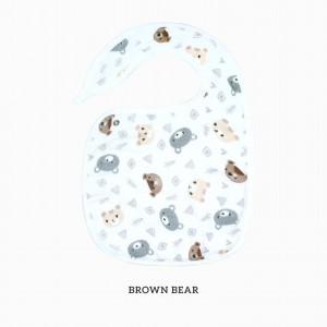 Brown Bear Snappy Bib