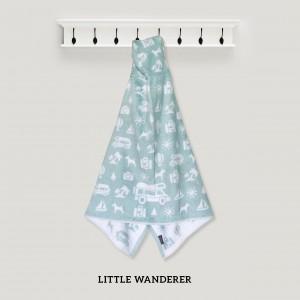 Little Wanderer GREEN Hooded Towel