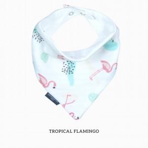Tropical Flamingo Bandana Bib