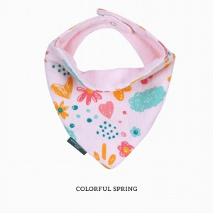 Colourful Spring Bandana Bib
