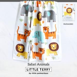 SAFARI ANIMALS LITTLE TERRY TOWEL