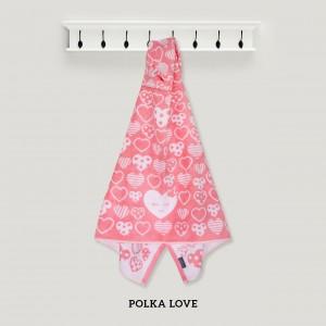 Polka Love PINK Hooded Towel