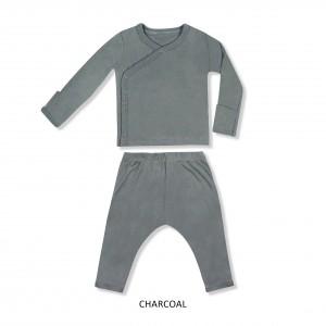 CHARCOAL Baby Kimono Set