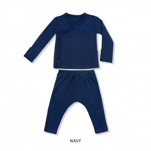 NAVY Baby Kimono Set