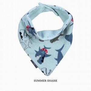 Summer Shark Bandana Bib