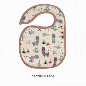 Cactus Alpaca Snappy Bib