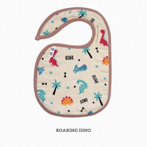 Roaring Dino Snappy Bib