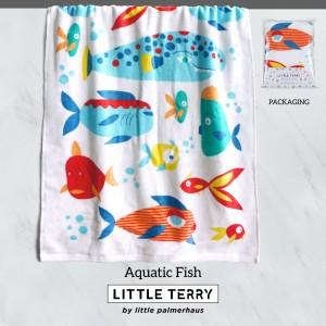 AQUATIC FISH LITTLE TERRY TOWEL
