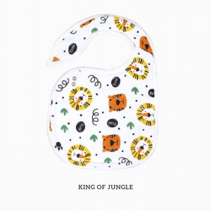 King of Jungle Snappy Bib