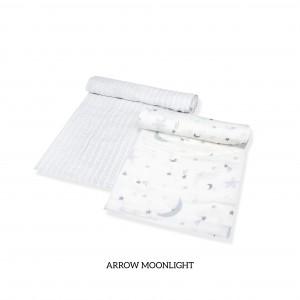 Arrow Moonlight Muslin Swaddle Set of 2 (GREY)