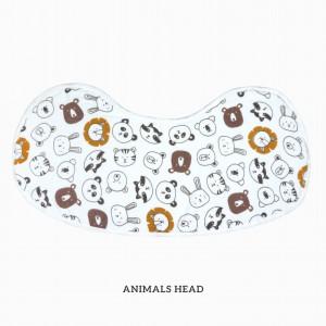ANIMALS HEAD Burp & Bib