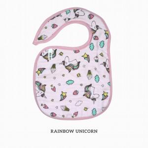 Rainbow Unicorn Snappy Bib